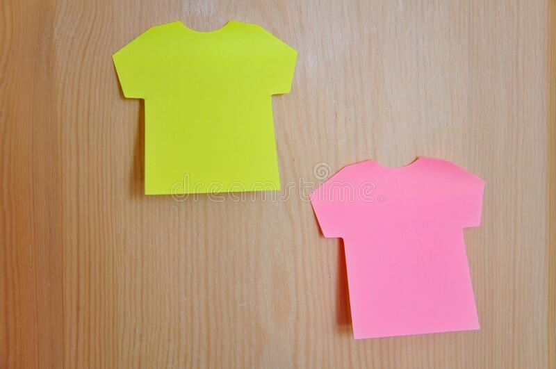 Postit Note Paper. Blank colorful Postit Note Paper royalty free stock photography