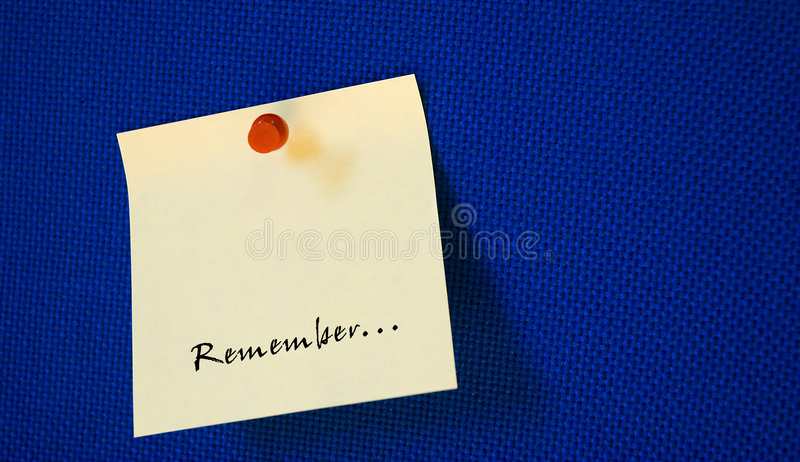 Download Postit with remember note stock image. Image of abstract - 4196647