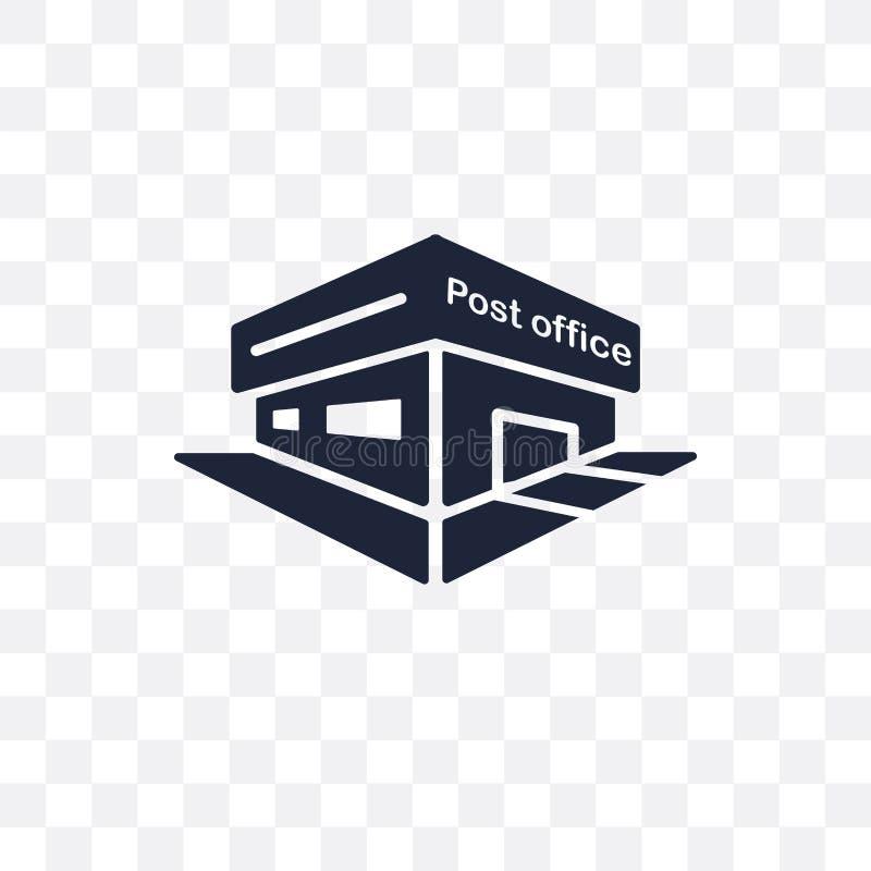 Postkantoor transparant pictogram Het ontwerp van het postkantoorsymbool van Del royalty-vrije illustratie