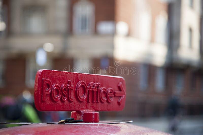 Postkantoorteken stock afbeelding