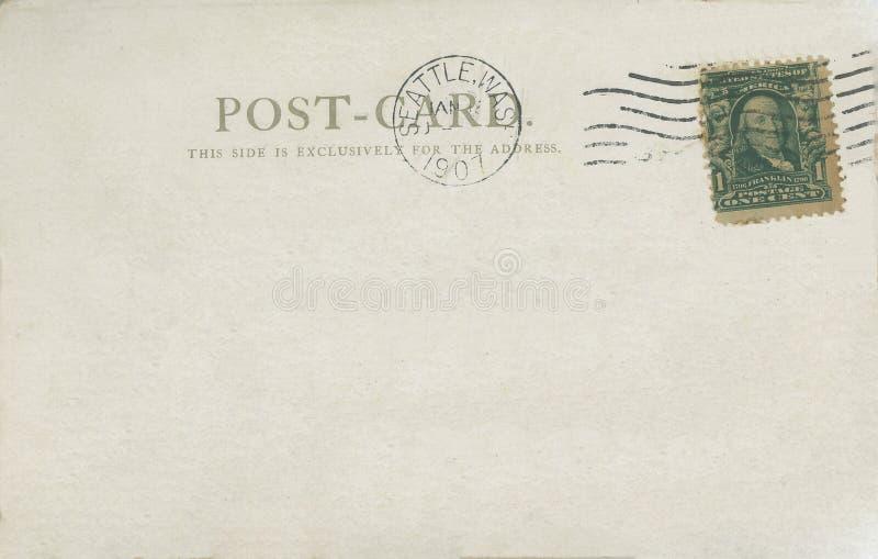 Postkarte 1907 lizenzfreies stockfoto