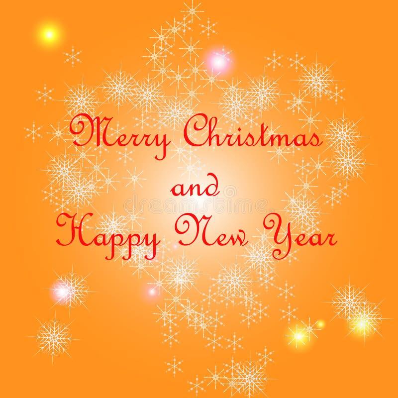 Postkarte der frohen Weihnachten lizenzfreie abbildung
