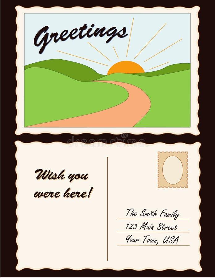 Postkarte (JPG+EPS) lizenzfreie abbildung