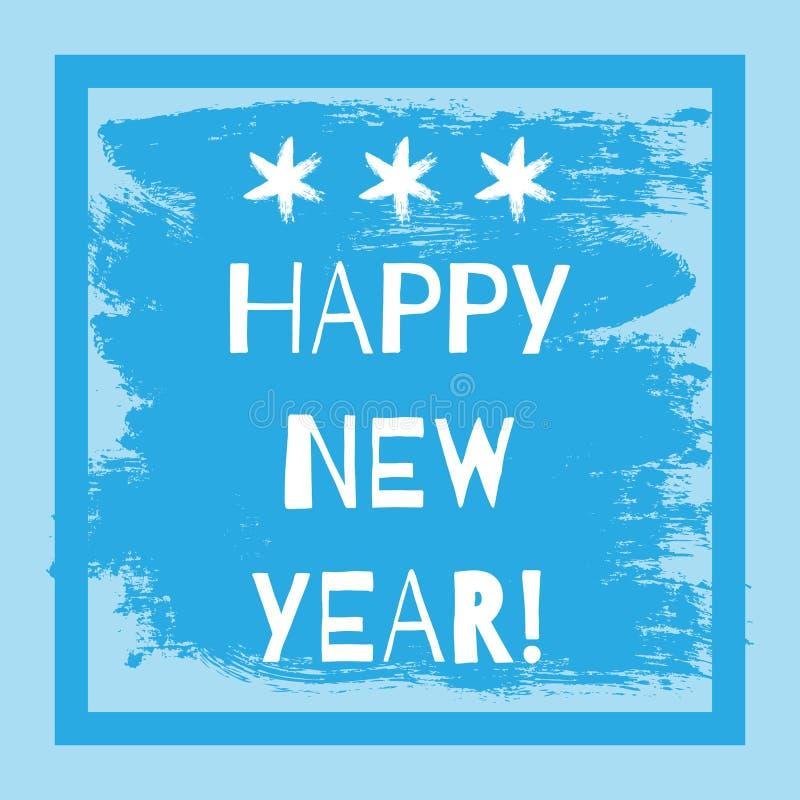 Postkarte mit dem Text guten Rutsch ins Neue Jahr! Feld vektor abbildung