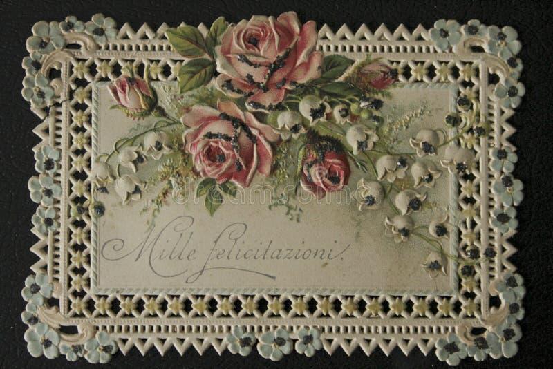 Postkarte 73_WW lizenzfreie stockfotos
