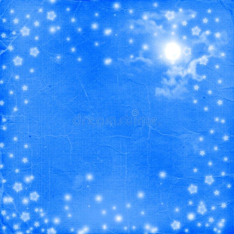 Postkartefeiertag mit Sternen vektor abbildung
