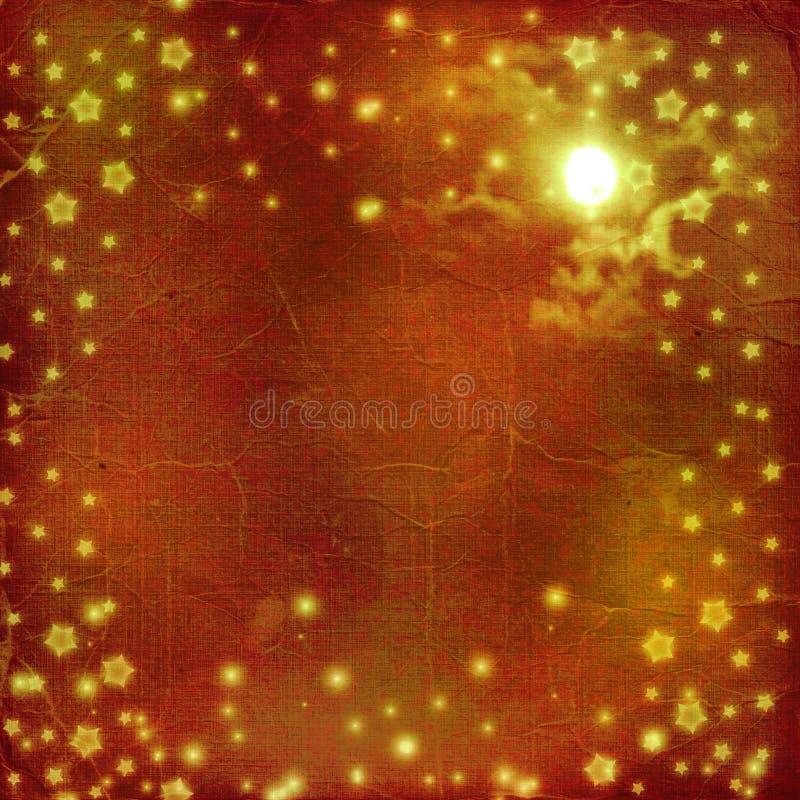 Postkartefeiertag mit Sternen lizenzfreie abbildung