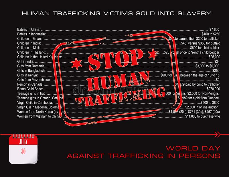 Postkartenendmenschliches Handeln stock abbildung
