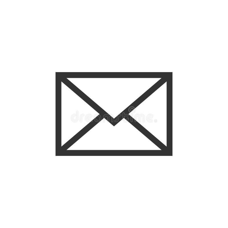 Postkuvertsymbol i plan stil Illustrat för vektor för Emailmeddelande royaltyfri illustrationer