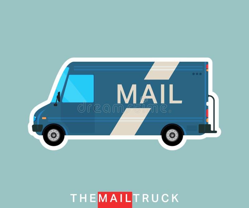 Postlastbil stock illustrationer