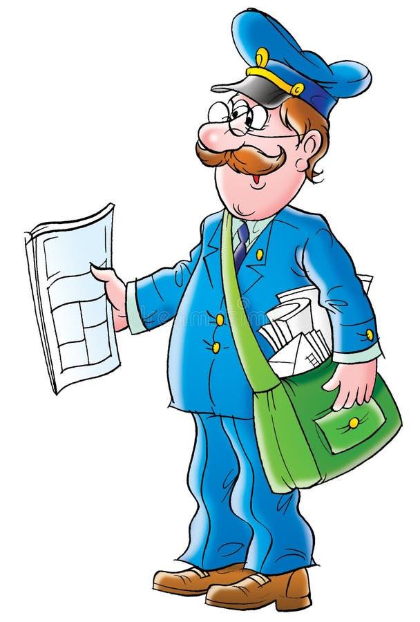 Postman stock illustration. Illustration of drawing ...