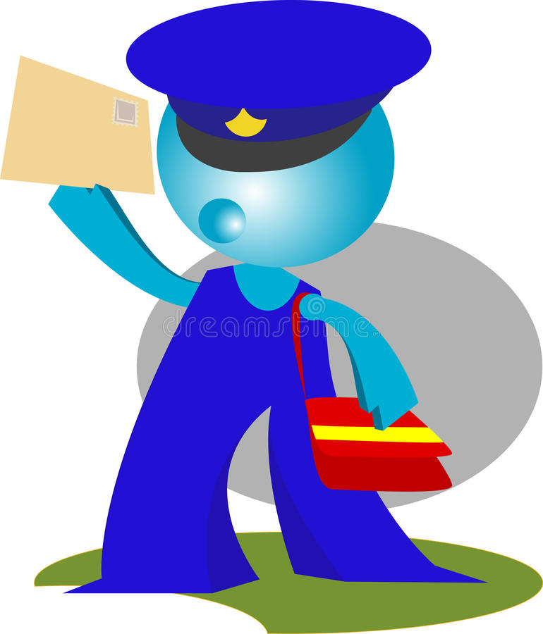 Download Postman Delivers Mail In Action Stock Illustration - Image: 14822502