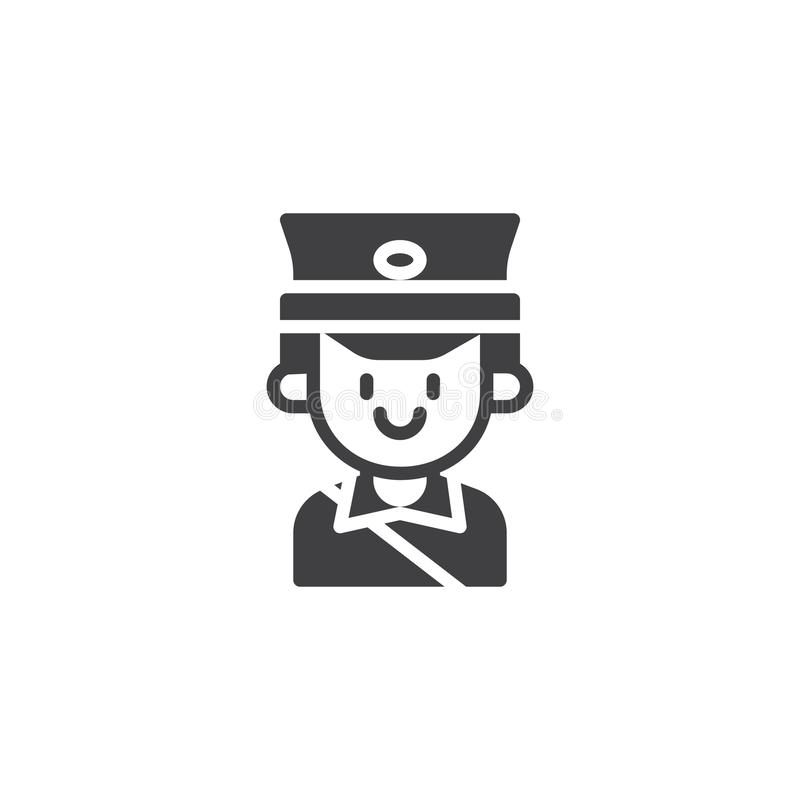 Postman portrait vector icon vector illustration