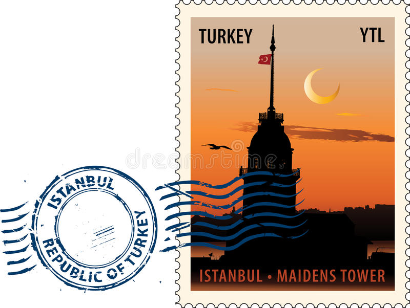 Download Postmark From Istanbul Stock Photography - Image: 15555042