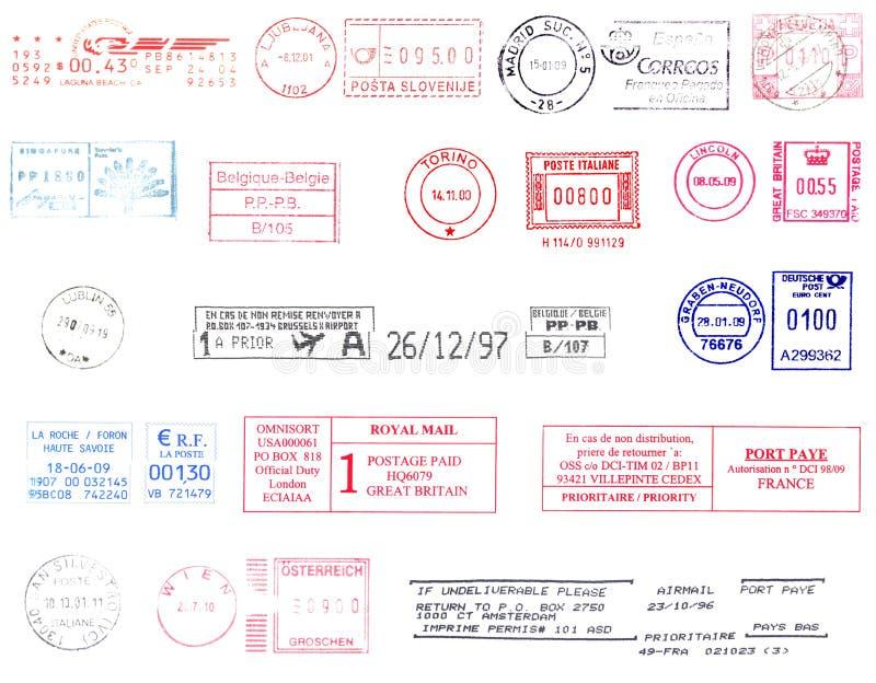 postmarks мир иллюстрация вектора