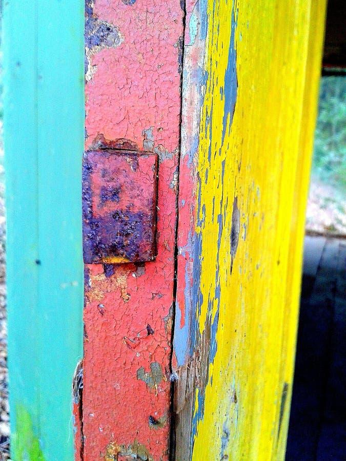 posto abbandonato nei colori pastelli fotografia stock