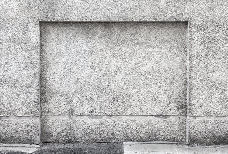 Posto adatto in muro di cemento grigio fotografie stock
