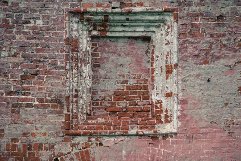 Posto adatto in vecchio muro di mattoni fotografia stock