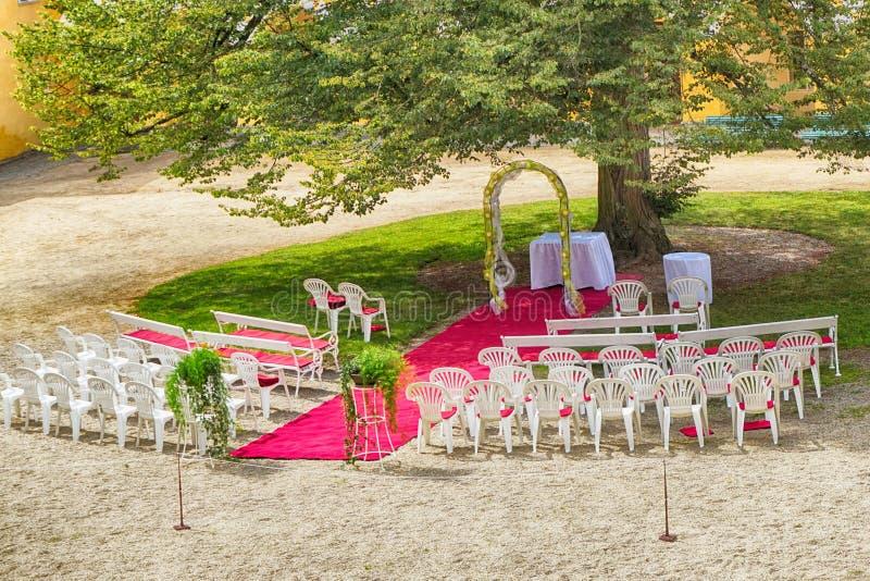 Posto all'aperto di nozze fotografia stock
