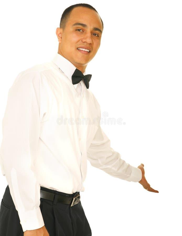 Posto d'offerta del cameriere da sedersi fotografie stock libere da diritti