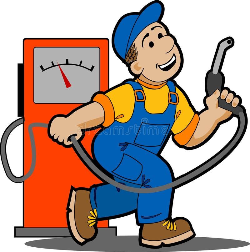 Posto de gasolina. ilustração stock