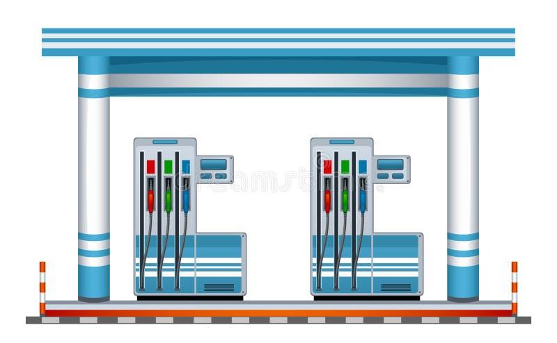 Posto de gasolina ilustração do vetor