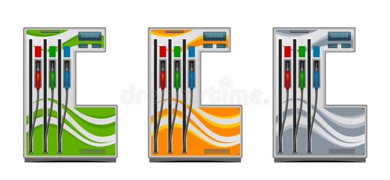 Posto de gasolina ilustração stock