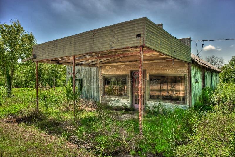 Posto de gasolina abandonado Niederwald Texas fotografia de stock royalty free