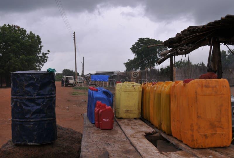 Posto de gasolina africano fotografia de stock royalty free