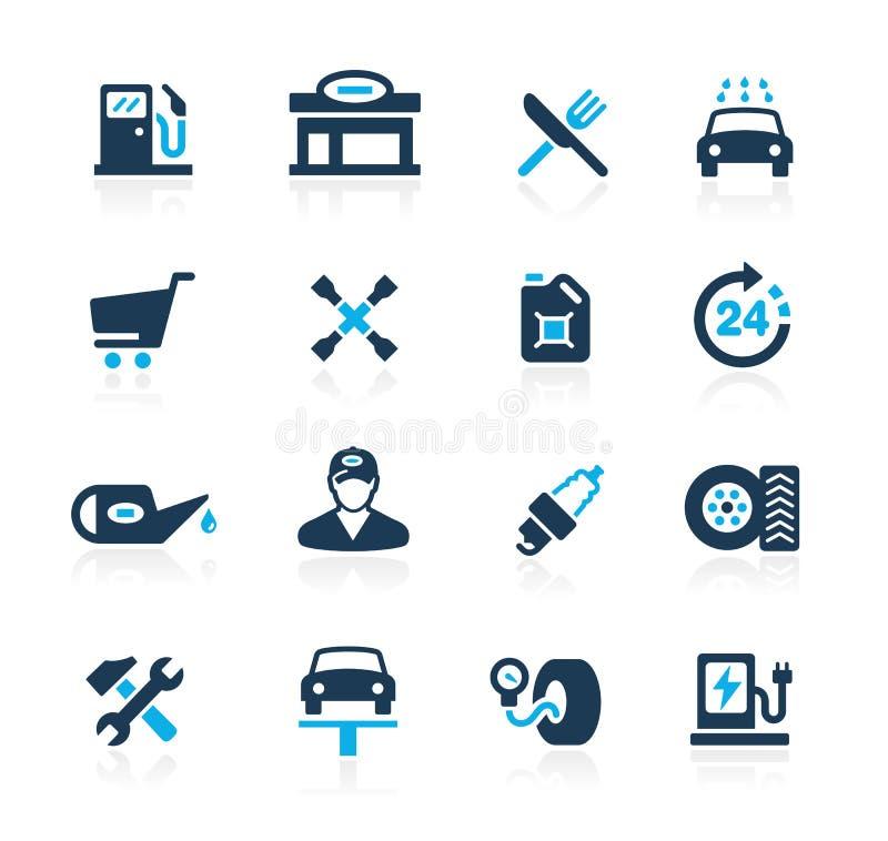Posto de gasolina //Azure Series ilustração stock