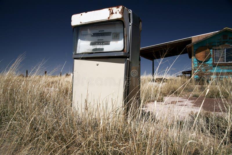 Posto de gasolina dos EUA do vintage fotografia de stock