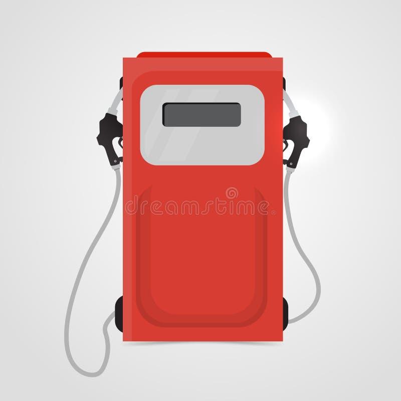 Posto de gasolina vermelho ilustração do vetor