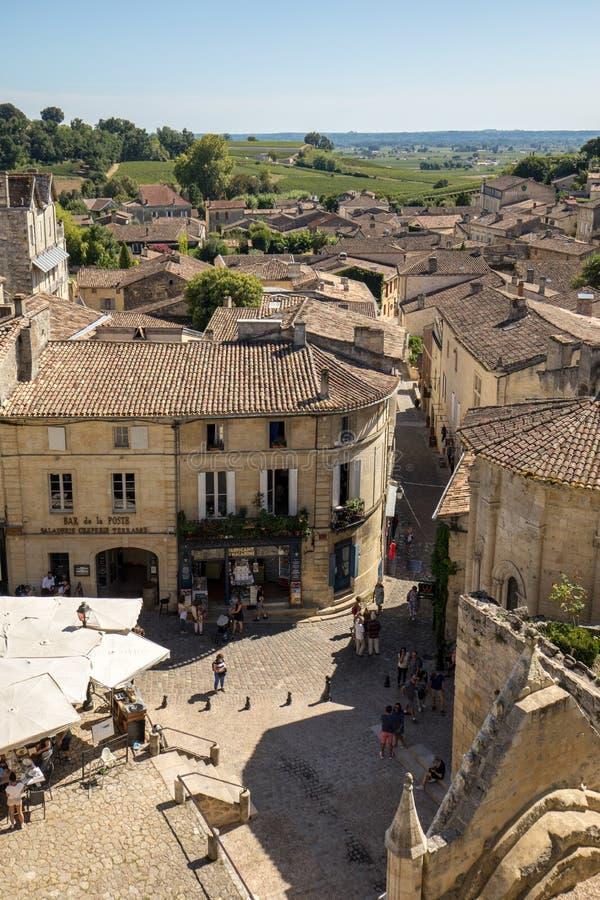 Posto de lEglise Monolithe in st Emilion; Dipartimento di Gironda; La Francia fotografie stock