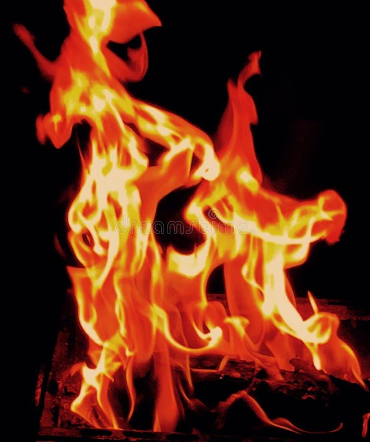 Posto del fuoco di illusione fotografia stock