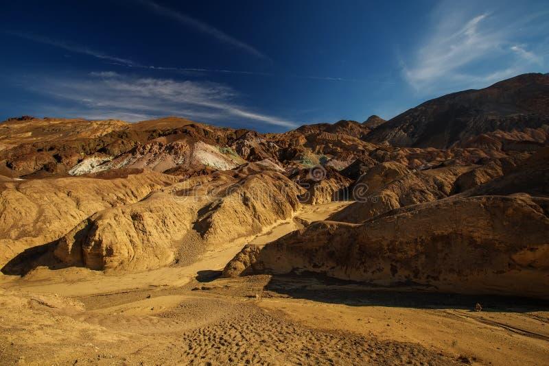 Posto del punto di riferimento della tavolozza del ` s dell'artista nel parco nazionale di Death Valley, C fotografie stock