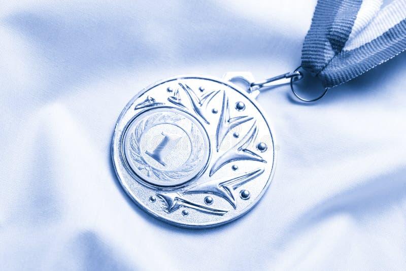 Posto della medaglia del metallo primo immagine stock libera da diritti