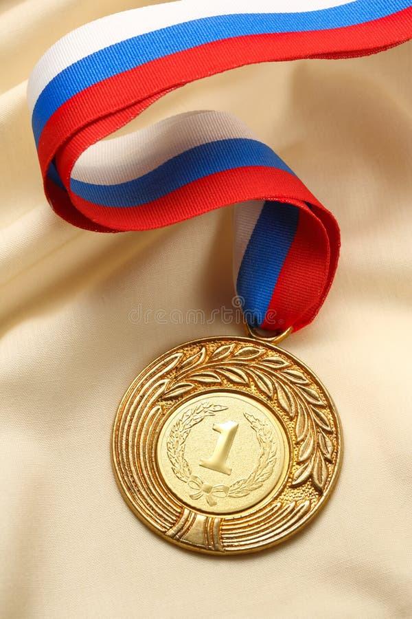 Posto della medaglia del metallo primo immagini stock libere da diritti