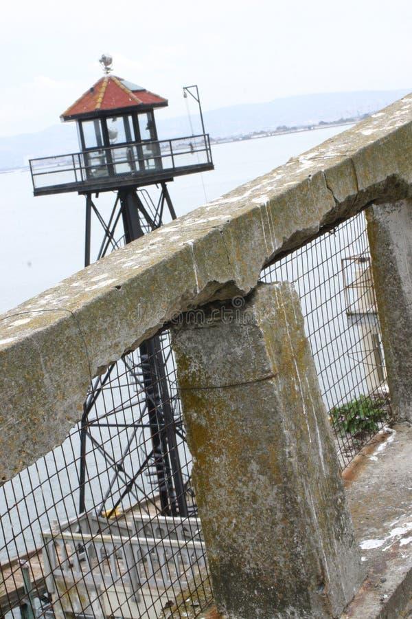 Posto di guardia di Alcatraz fotografie stock