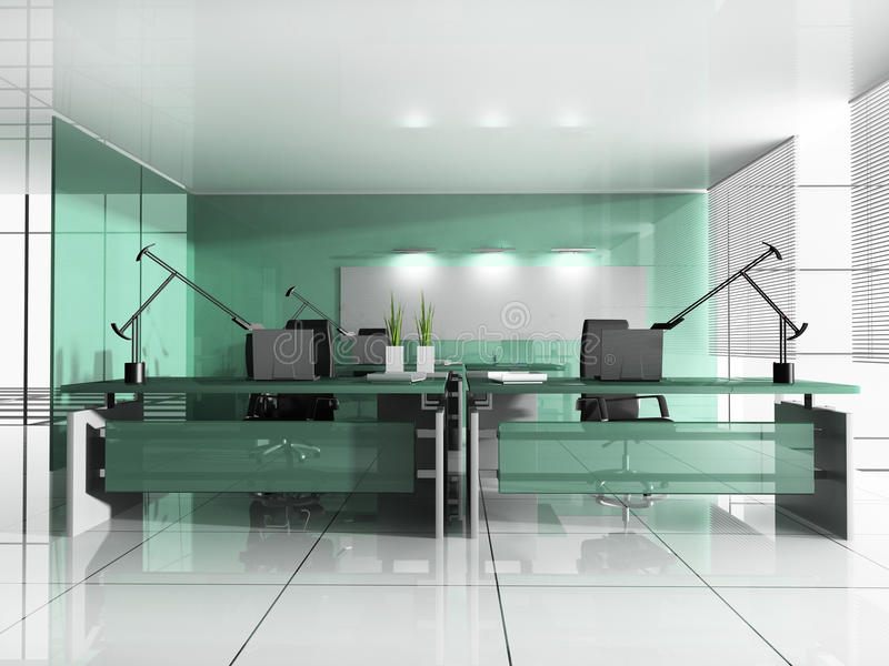 Posto di lavoro all'ufficio moderno illustrazione vettoriale
