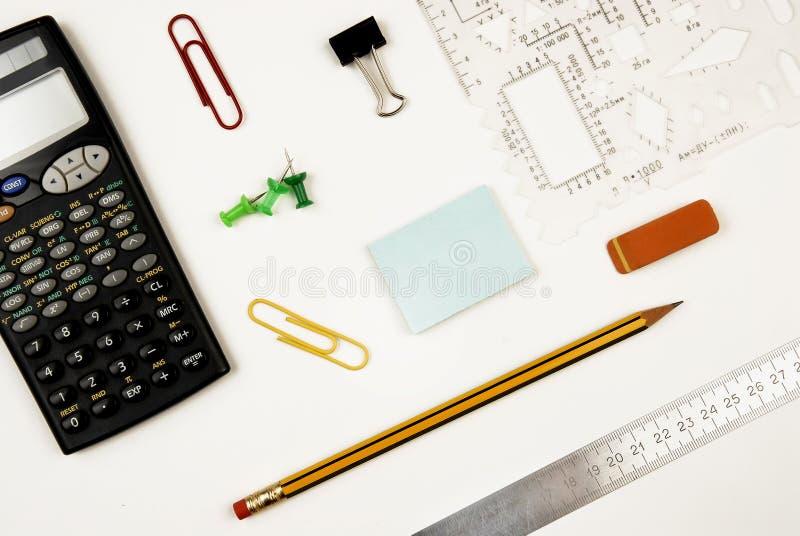 Posto di lavoro con un calcolatore fotografia stock libera da diritti