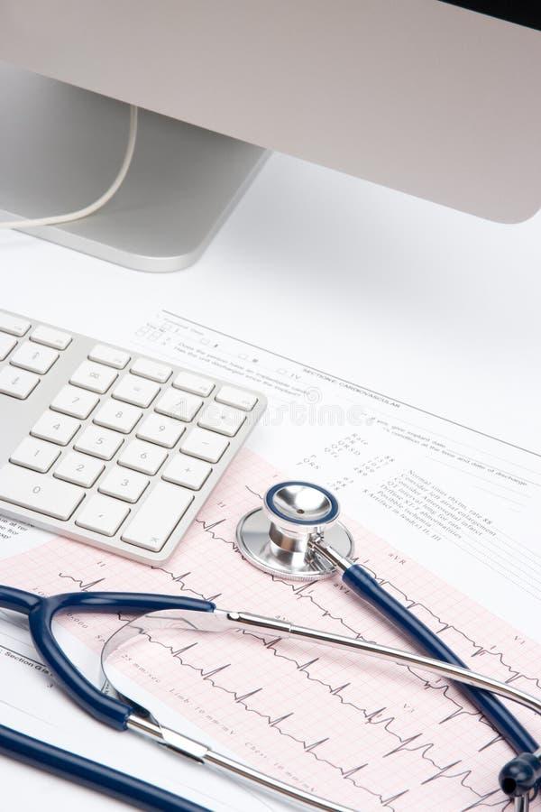 Posto di lavoro del medico - concetto medico immagine stock libera da diritti