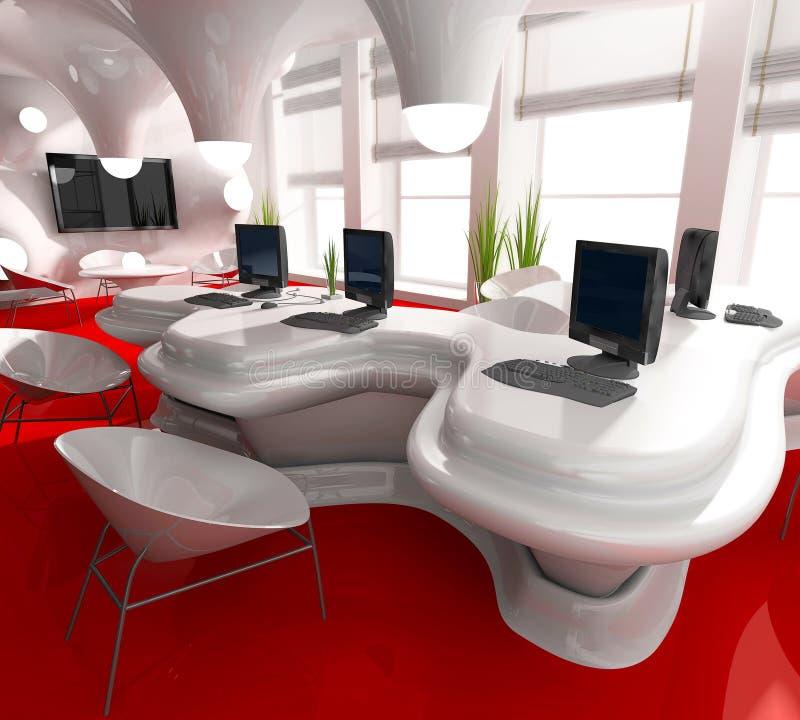 posto di lavoro moderno dell'ufficio royalty illustrazione gratis