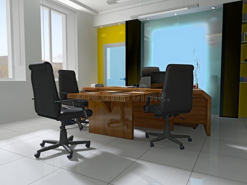 posto di lavoro moderno dell'ufficio illustrazione di stock