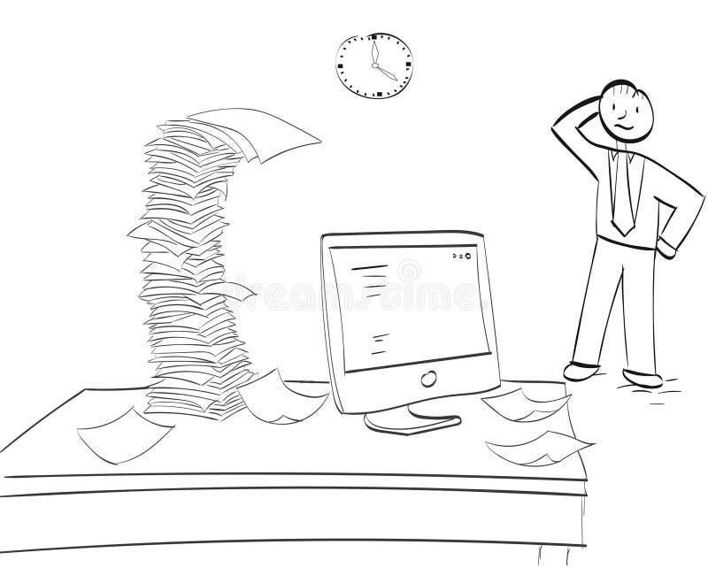 Posto di lavoro occupato illustrazione vettoriale