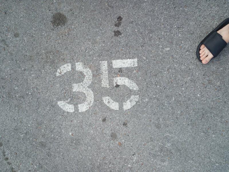 Posto di parcheggio no 35 fotografie stock
