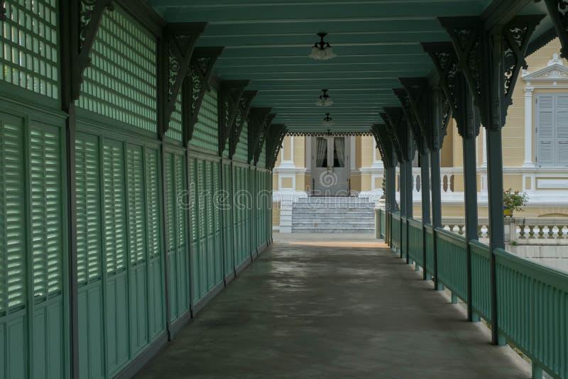 posto famoso in Tailandia ( Palazzo di Bangpain fotografia stock libera da diritti