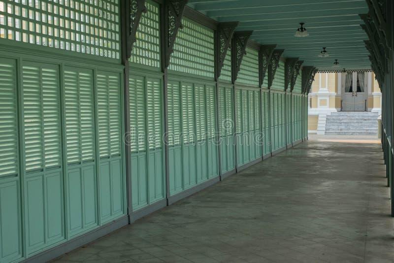 posto famoso in Tailandia ( Palazzo di Bangpain fotografie stock libere da diritti