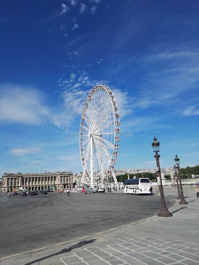 Posto il Concorde Parigi della ruota panoramica fotografie stock libere da diritti