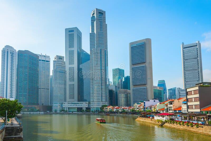 posto moderno di tombole dell'orizzonte di Singapore fotografia stock