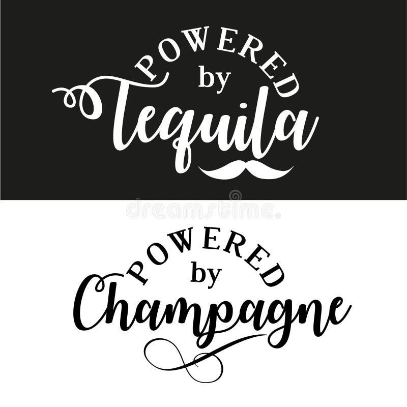 Posto pelo tequila/champanhe ilustração stock